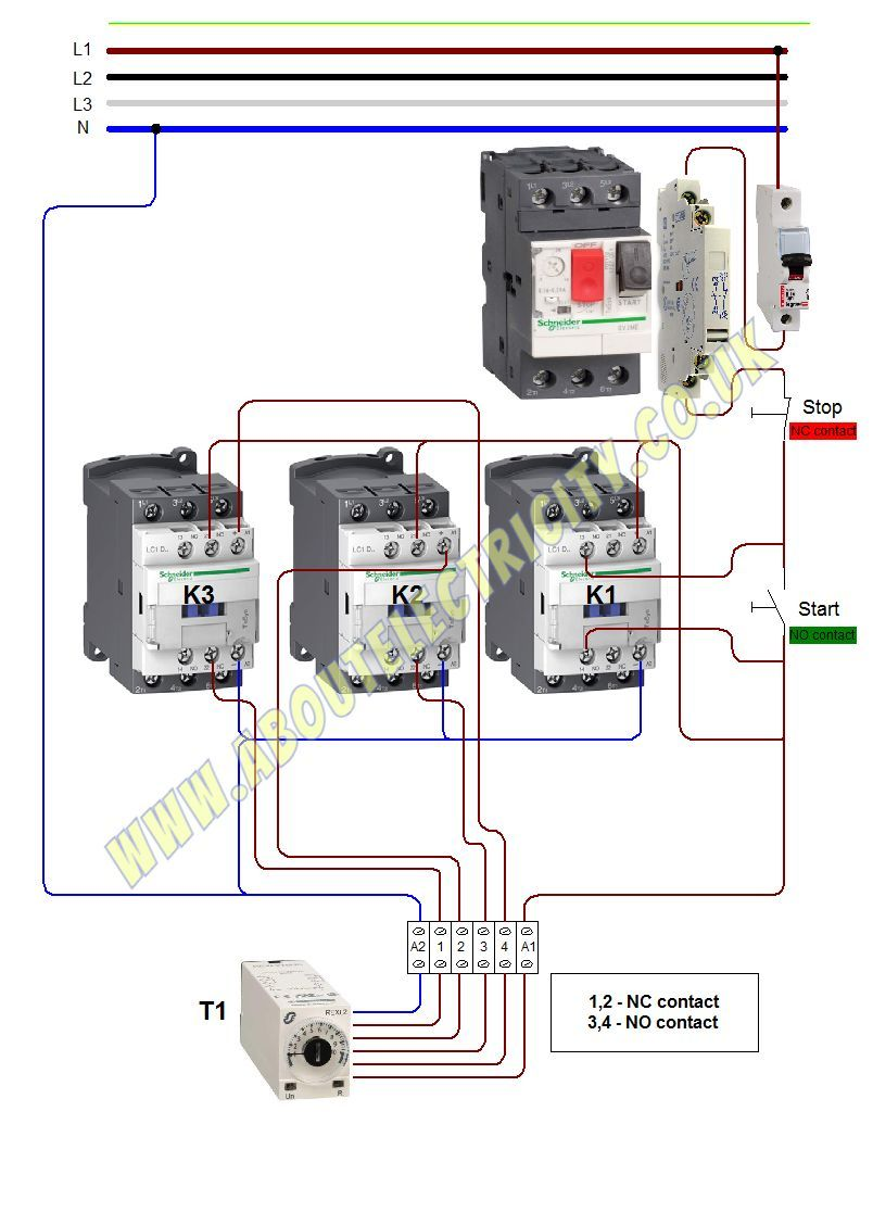 Star Delta Wiring Diagram In 2020 Electrical Wiring Delta Wire