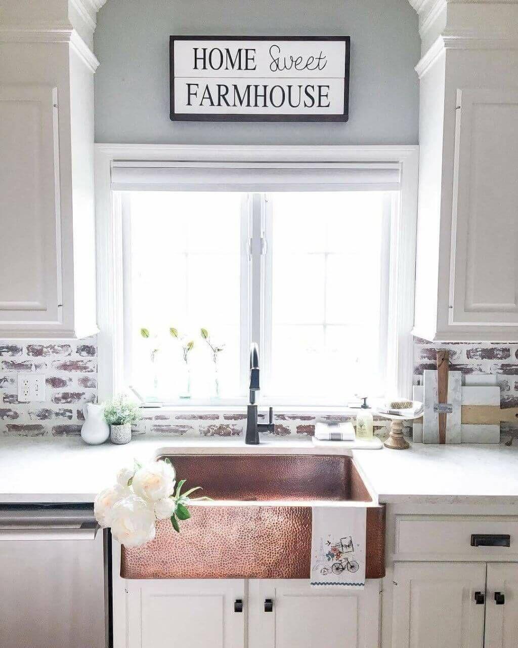 8 Unique Farmhouse Kitchen Backsplash Ideas That Will Set Your Kitchen Apart Farmhouse Kitchen Backsplash Farmhouse Sink Kitchen Rustic Kitchen Sinks