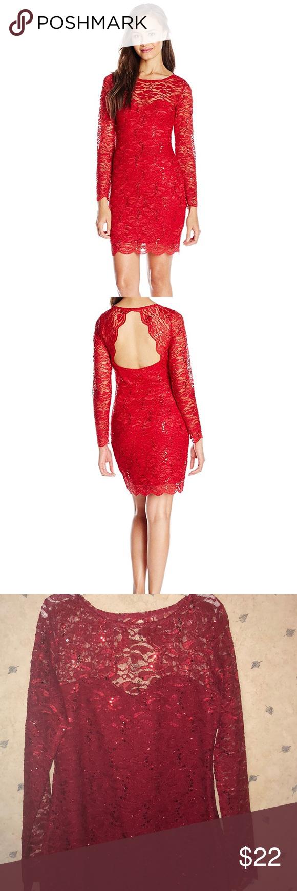 Red glitter u lace bodycon dress nwt red glitter bodycon style