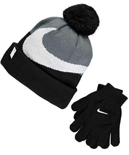 ce54ff95273 Nike Beanie   Gloves Set (Youth One Size) - black cool grey