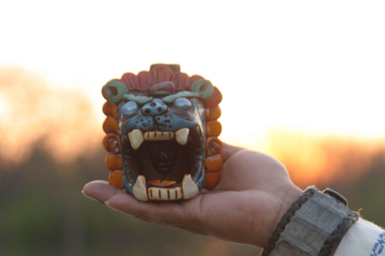 Large Aztec Jaguar Whistle Roar Growling Noises Pre By Janikua