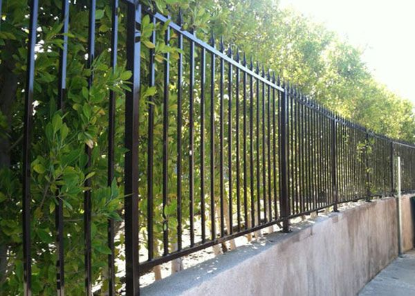 Iron Security Fences Gates Gallery Los Angeles County Ca Fencing Contractor Security Fence Fence Gate Front Porch Design