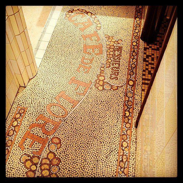 paris cafe de flore Café de flore, Mosaique