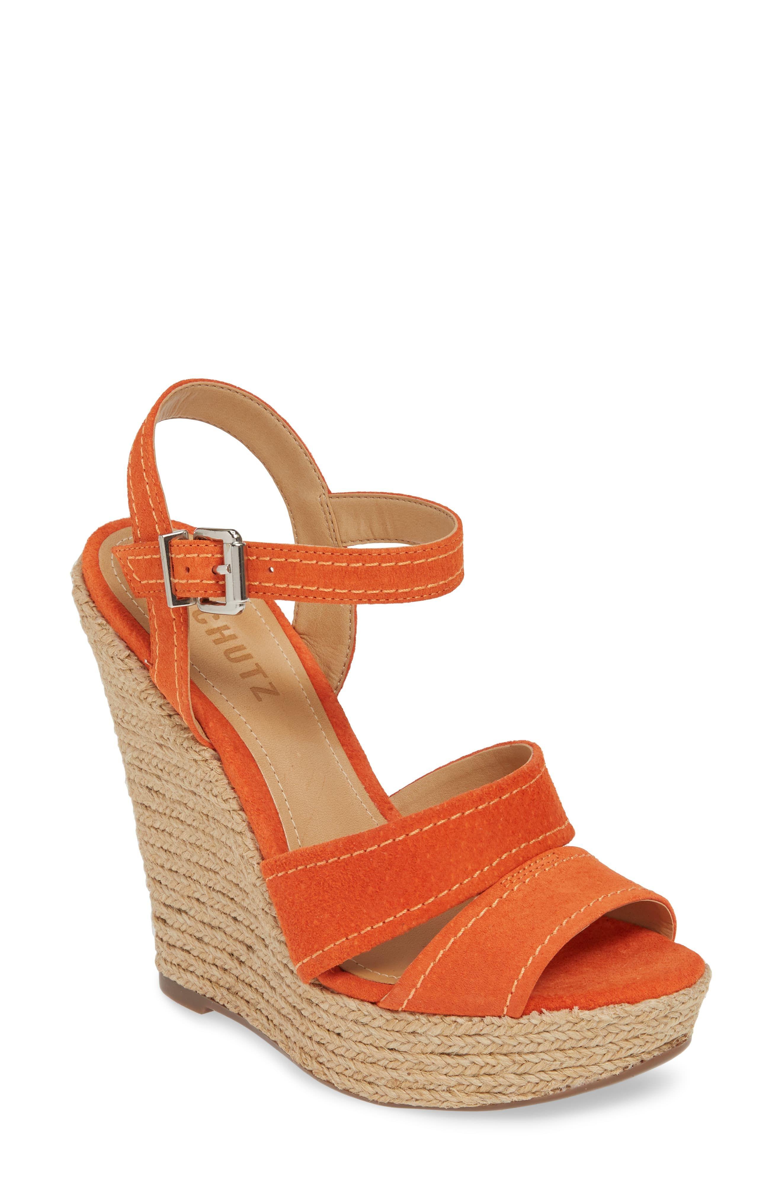ae903d51036 Women's Schutz Dorida Platform Wedge Sandal, Size 5.5 M - Orange ...