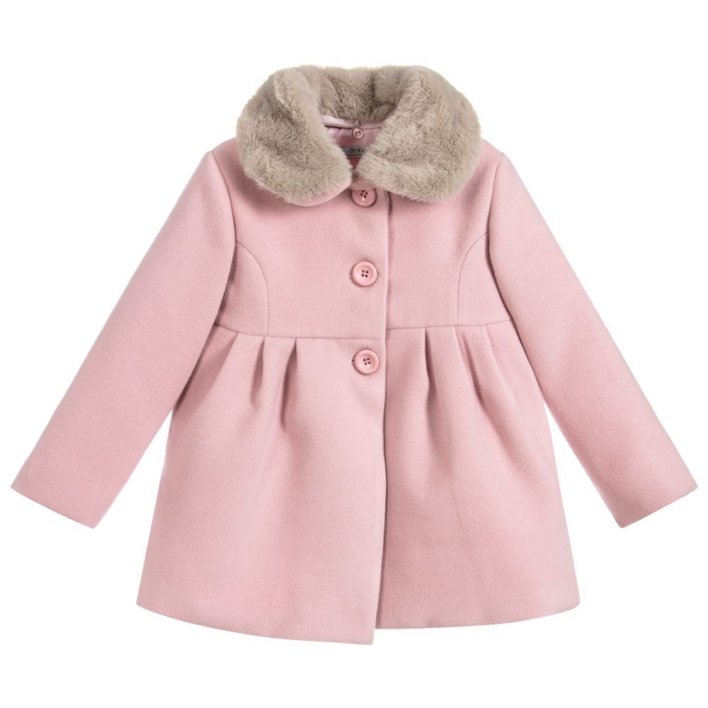 9bfcac85934c Girls Pink Coat for Girl by Dr. Kid. Discover more beautiful ...