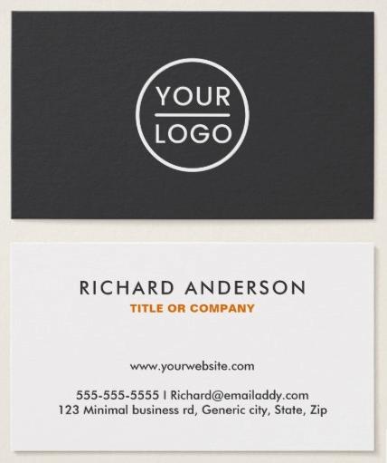Custom Logo Business Cards Modern Gray White Business Cards