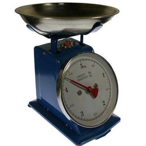 Balanza De Cocina De Acero Con Plato Max 5 Kg Color Azul