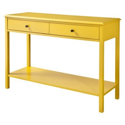 Yellow Entry Table Console Table Living Room Modern Console Tables Console Table