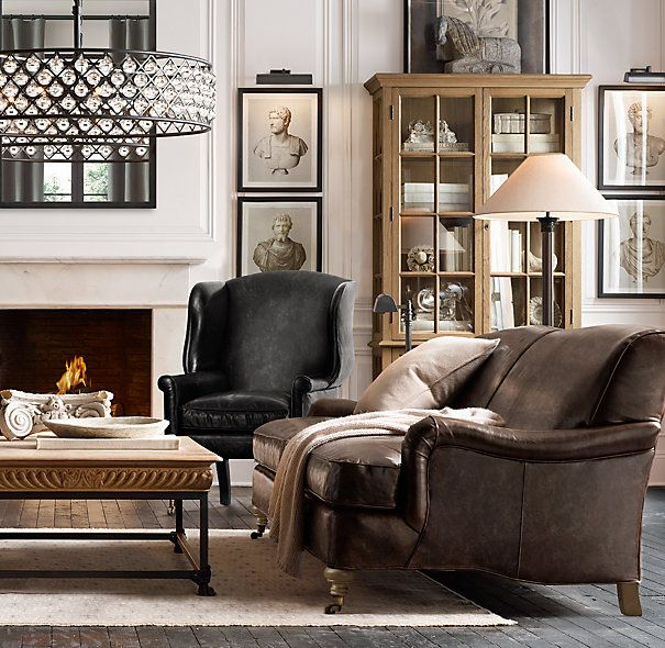 Living Room Decorating And Designs By Tina Barclay: Barclay Leather Sofas, Wall Prints Of Busts, Amazing Drum