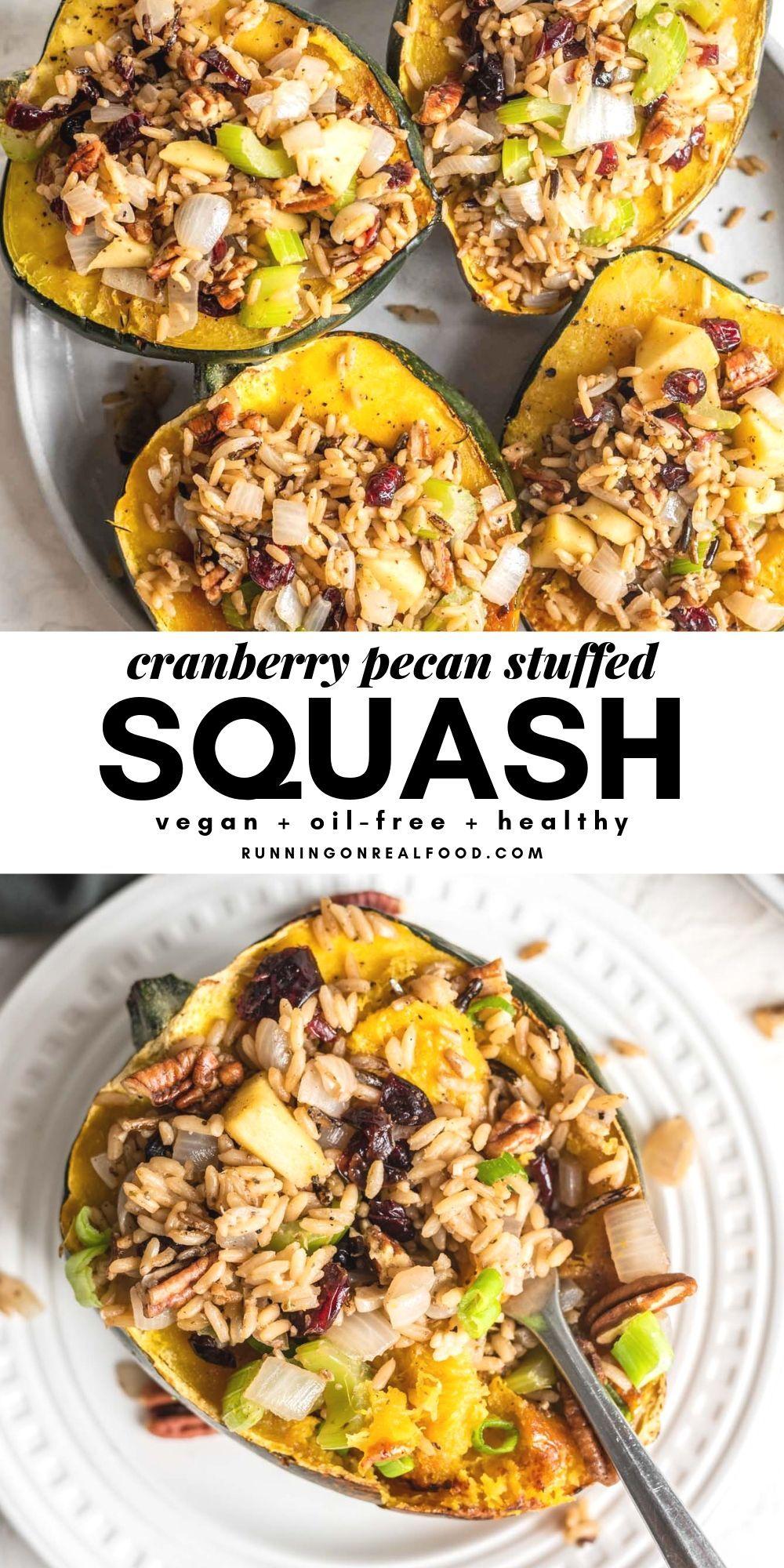 Stuffed Acorn Squash Recipe Vegan thanksgiving dinner