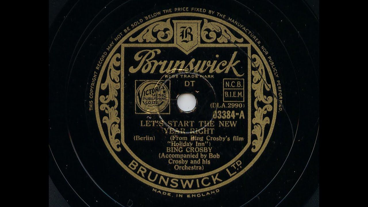 Bing Crosby 'Let's Start The New Year Right' 1942 78 rpm