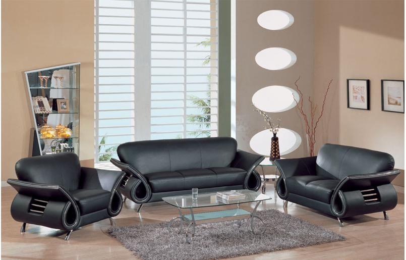 Cómo embellecer su Living Room con muebles de Cuero Negro : Diseño ...