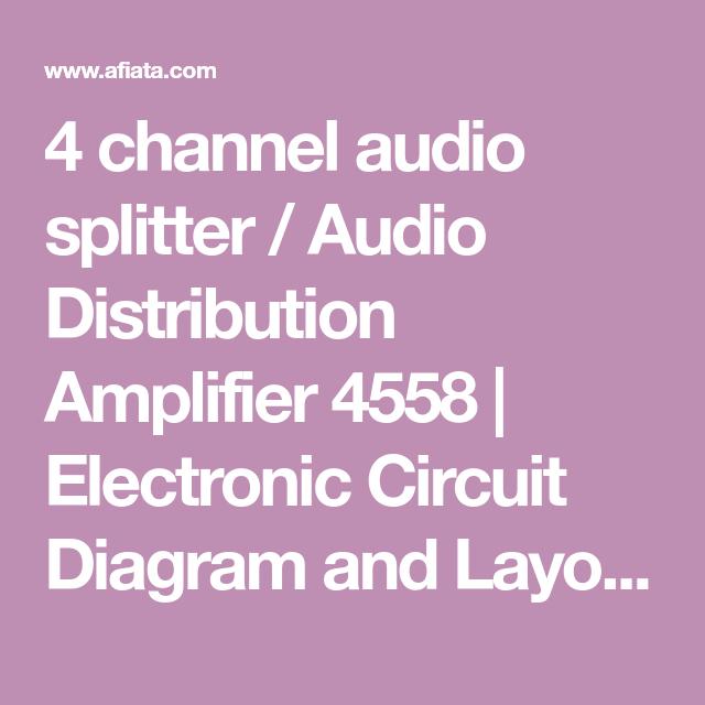 4 channel audio splitter / Audio Distribution Amplifier ...