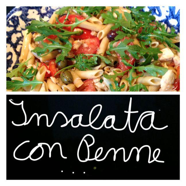 In the summertime…: Salate zum Sattessen – oder – 1. Insalata con Penne   Lilamalerie