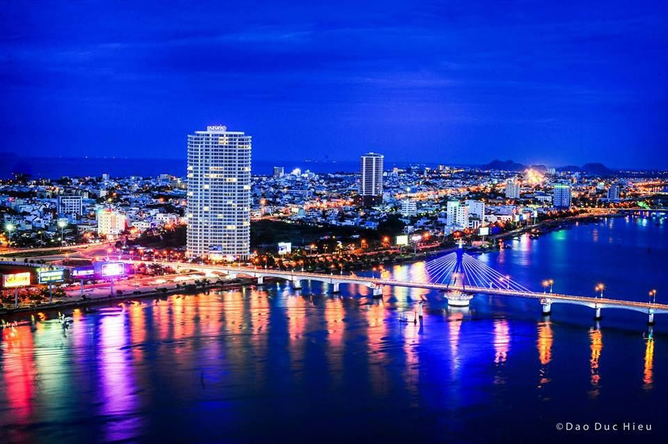 Danang City at night | Center Vietnam Beauty | Vietnam ...