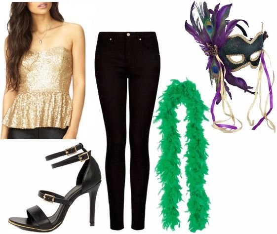 Outfits Under 100 3 Fun Mardi Gras Party Looks Party Outfit College Mardi Gras Outfits Trendy Party Outfits