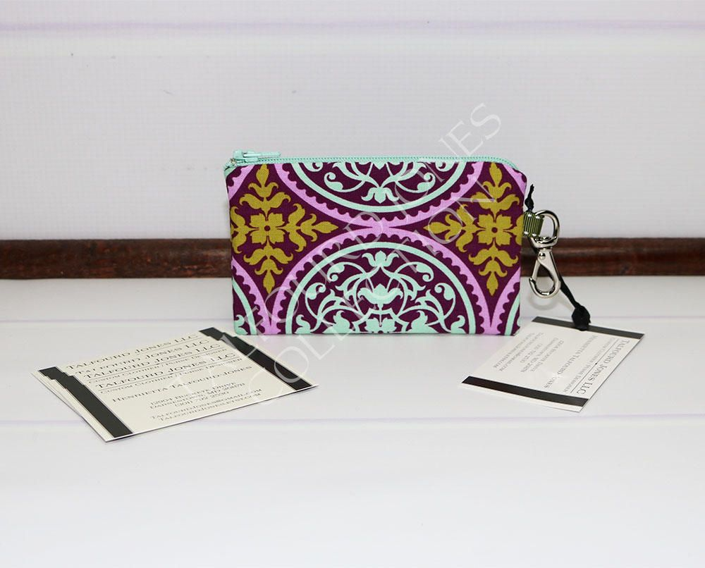 Business Card Case - Gift Card Pouch - Slim Coin Wallet - Purple ...