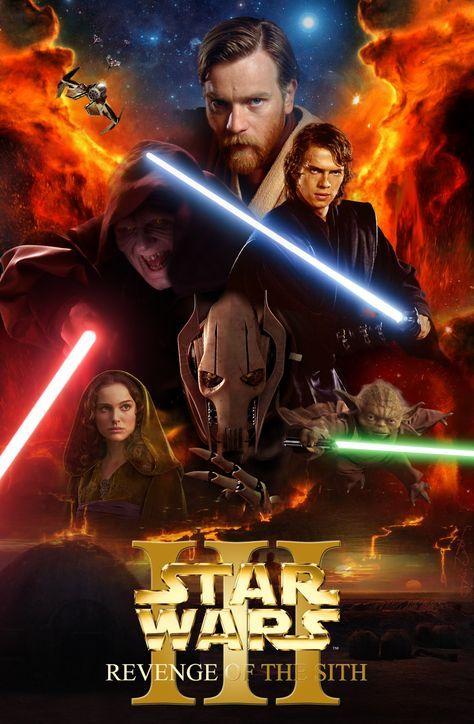 Star Wars La Revanche Des Siths : revanche, siths, Couverture, Wars,, Épisode, Revanche, Film,, Movies, Posters,, Painting