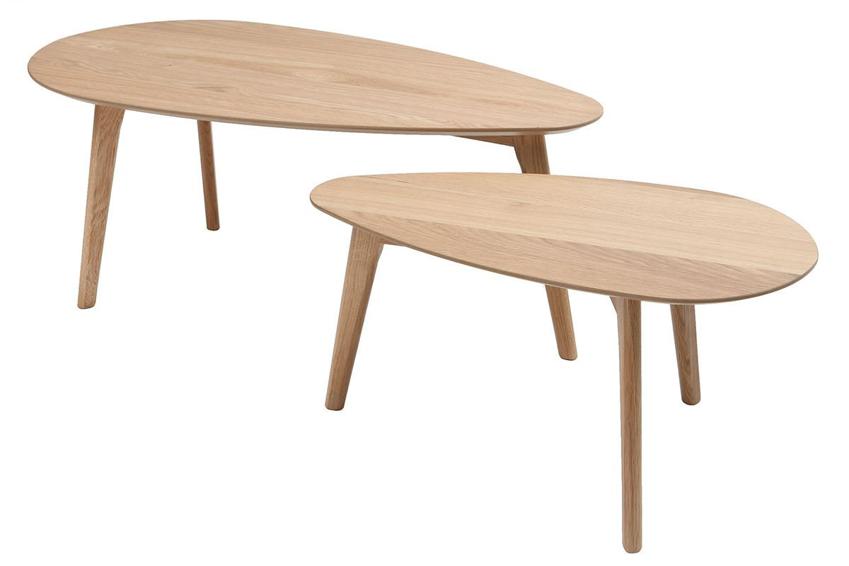 Tables Basses Chene Lot De 2 Artik Table Basse Chene Table Basse Miliboo
