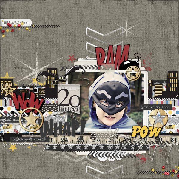 WOWZERS!!! Super Hero Scrapbook from Carolyn at DesignerDigitals.com