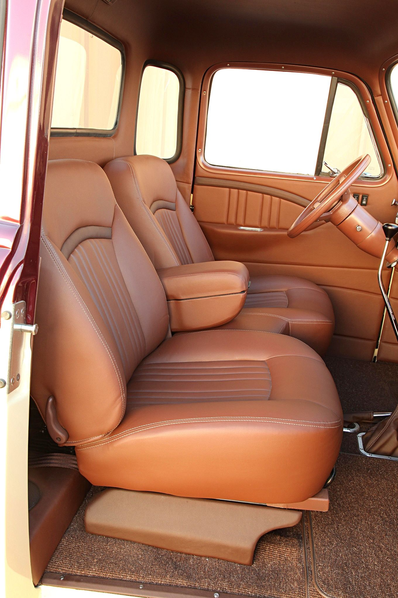 As It Turned Out Danny S Newly Acquired 1951 Chevrolet 3100 Was In Pretty Rough Shape And He Needed The Other Chevy Trucks Truck Interior Custom Car Interior