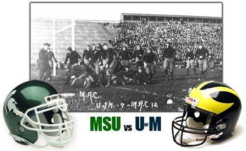 Michigan Vs Michigan State Football Rivalry Michigan State Football Michigan State Spartans Football Michigan State