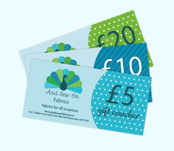 And sew on fabrics vouchers by amber phillips design www amber phillips design provides design and print to creatives crafters and other small businesses i offer various design services including website design colourmoves