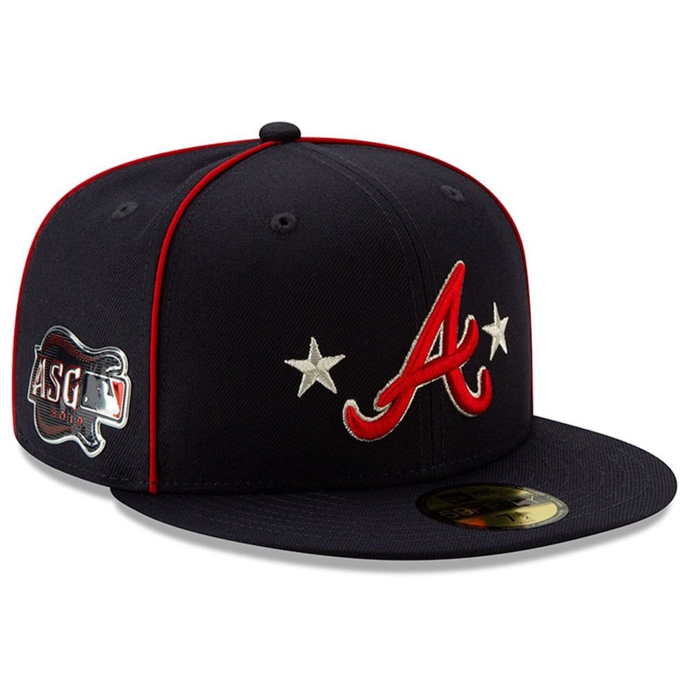 Men S New Era Navy Atlanta Braves 2019 Mlb All Star Game On Field 59fifty Fitted Hat Fitted Hats Hats For Men New Era