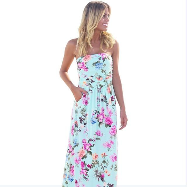 Refeeldeer Boho Summer Dress Women 2017 Summer Sundress Tunic Off Shoulder Floor Length Long Maxi Beach Dress Shirt Robe Femme