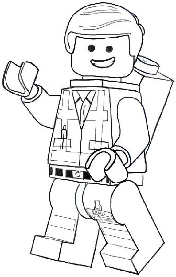 Emmet the ordinary guy from lego movie coloring pages for Lego guy coloring page