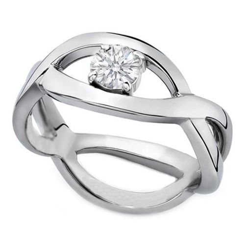 Infinity Love Solitaire Infinity Round Diamond Engagement Ring in