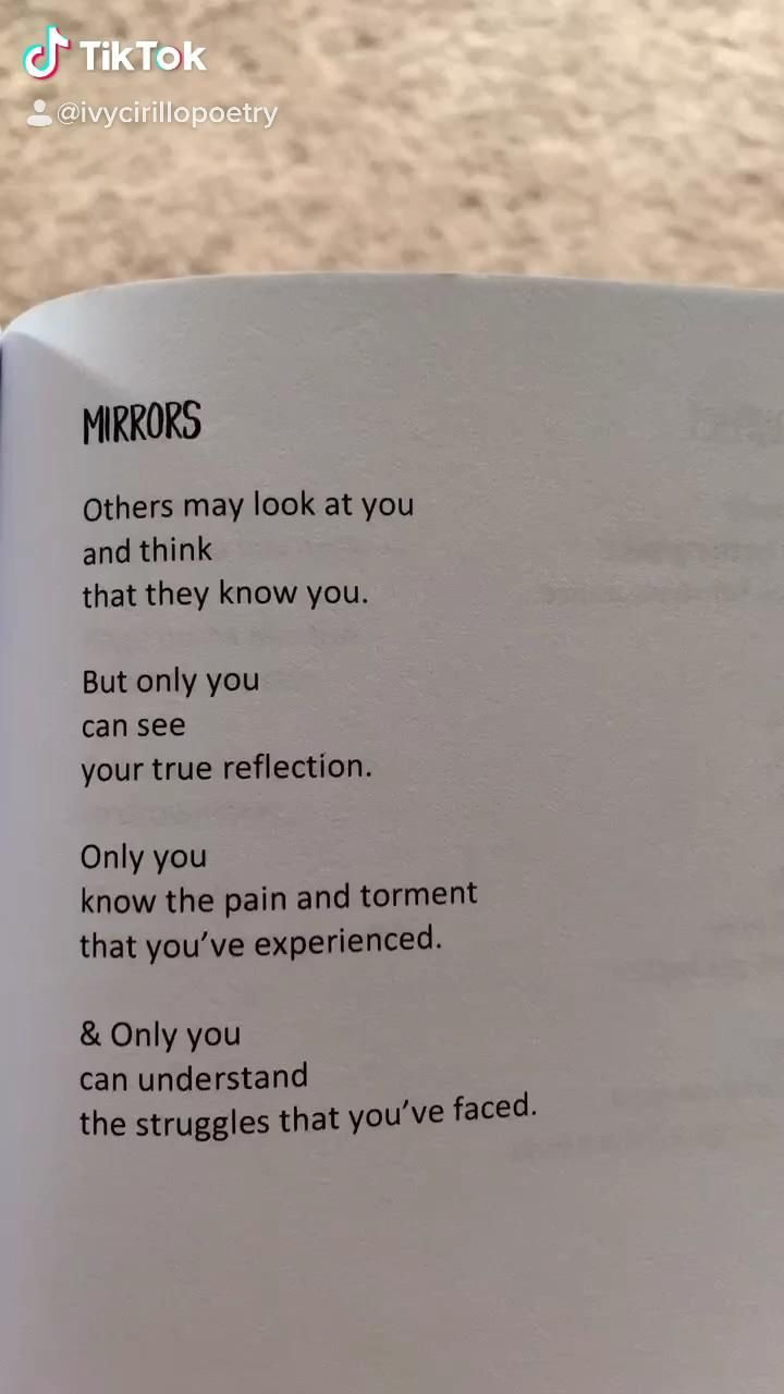 Mirrors | Unveiled: A Poetry Memoir