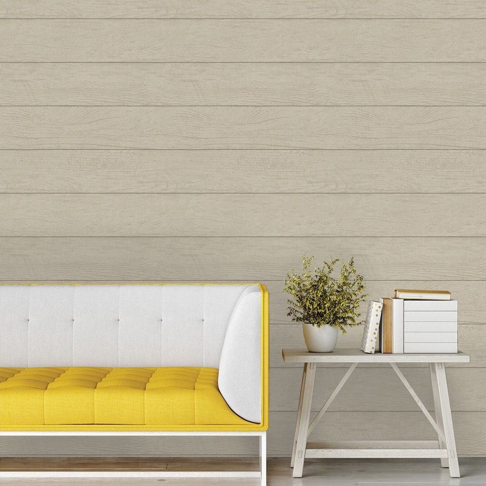Textured Shiplap Twig, Peel and stick wallpaper