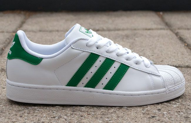 adidas originals superstar 2 white green