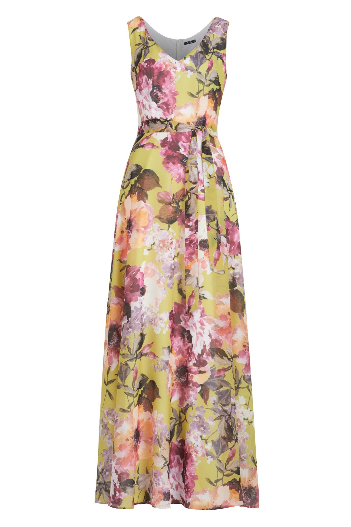Langes Kleid mit Blütenprint  Sommerkleid, Kleider, Modestil