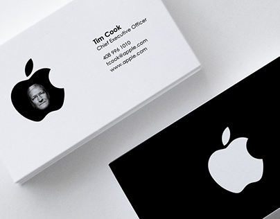 Check Out New Work On My Behance Portfolio Business Card Apple Concept Http Be Net Gallery 52329293 Business Card Apple Concept