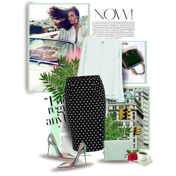 Polka dots by bliznec on Polyvore featuring мода, MANGO, Christian Louboutin and 3.1 Phillip Lim