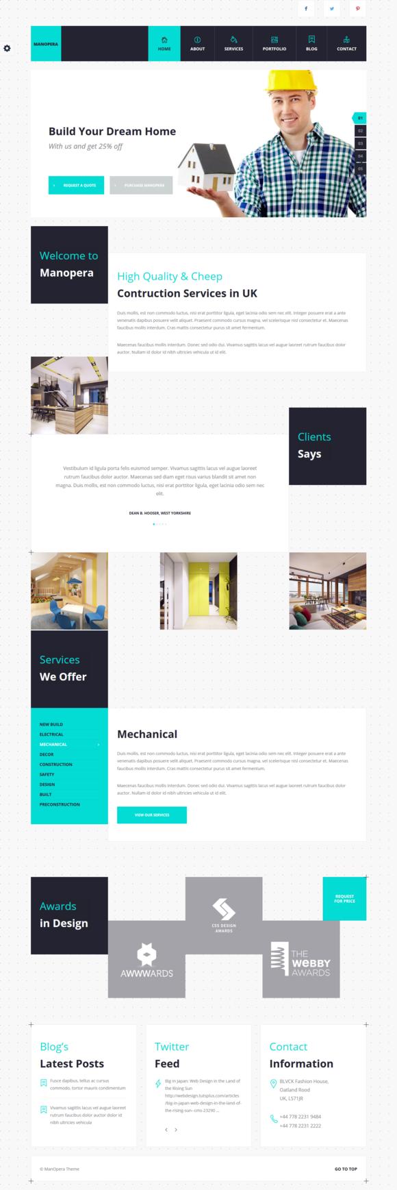 Manopera - Construction Theme by nrgthemes on Creative Market