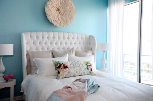 I need that pillow…and headboard…and accent wall.