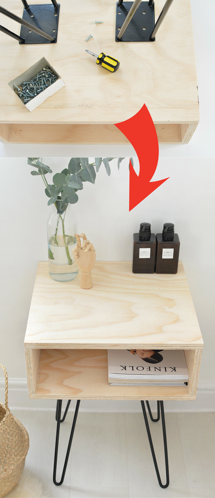 17 Amazing DIY Nightstand Ideas For Your Bedroom is part of Plywood furniture Nightstand - Nightstand decor has become increasingly popular over the last few years  This bedside buddy was once often overlooked as just a boring piece of furniture  This amazing unit is an essential bedroom element that needs