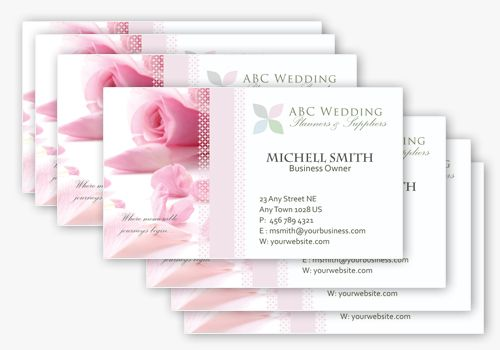 4 Wedding Business Card Templates in PSD Business Cards