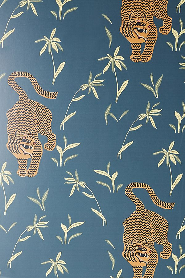 Silent Tiger Wallpaper By Mitchell Black In Beige Wall