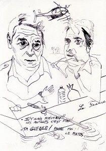 Jean-Xavier Renaud, Air Cocaine,  Encre de chine sur papier, 2015