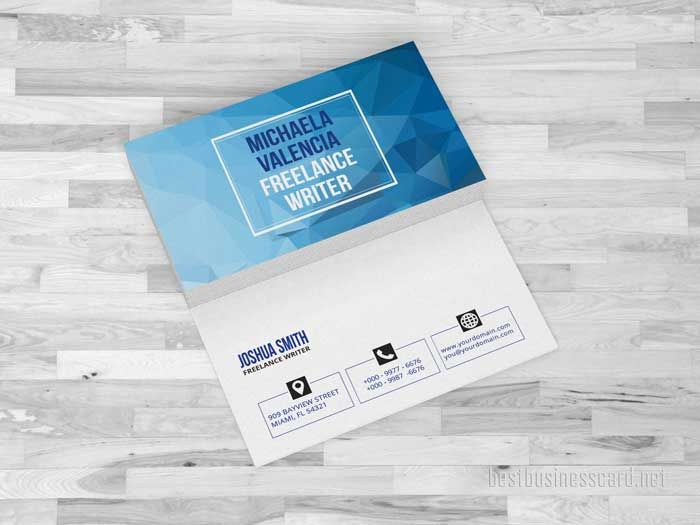 4 Blue Personal Business Cards Templates | +Design - Business Card ...