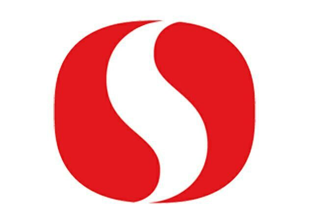 safeway logo uses negative space it takes two shaded red
