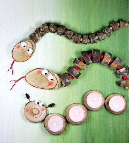 Herbstliches Basteln Mit Holz Und Naturmaterialien Natural
