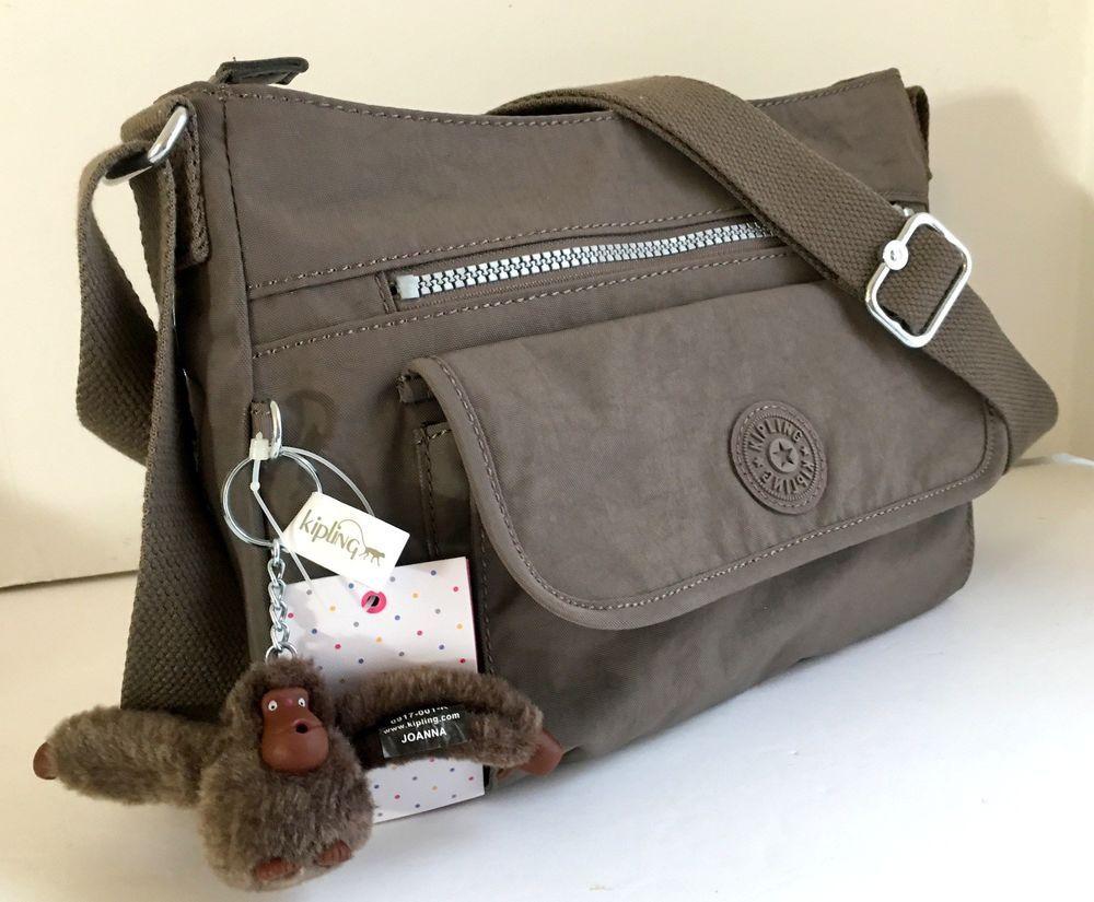 NEW KIPLING Syro Crossbody Shoulder Bag Taupe Brown Nylon HB7287  Lightweight  Kipling  Crossbody 6f267105b3b1d