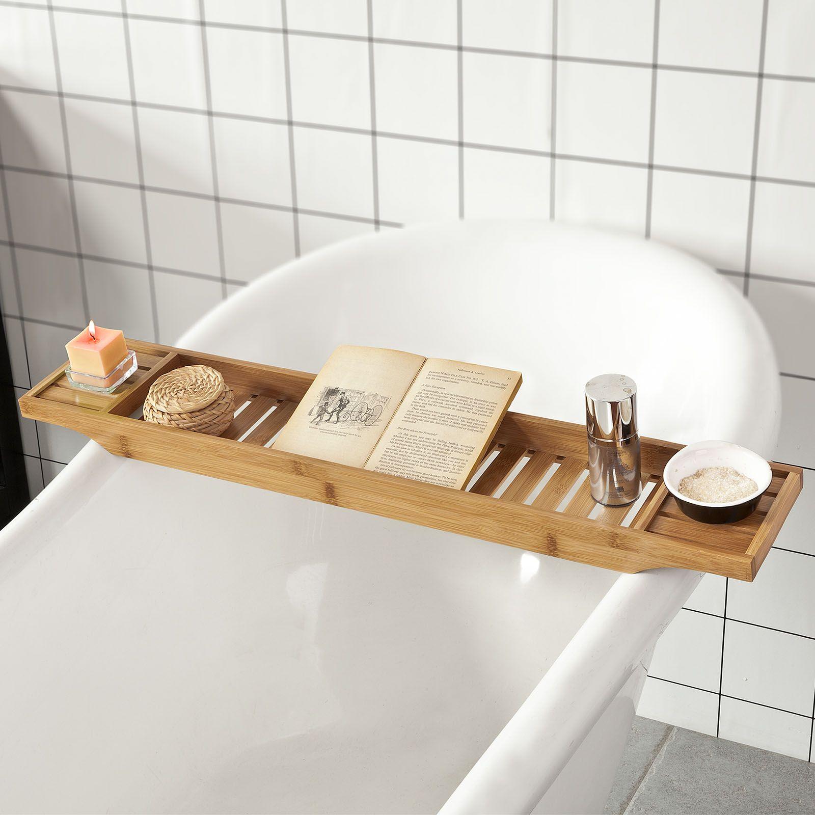 Sobuy Accessori Bagno Set Mensola Per Vasca Da Bagno Vassoio