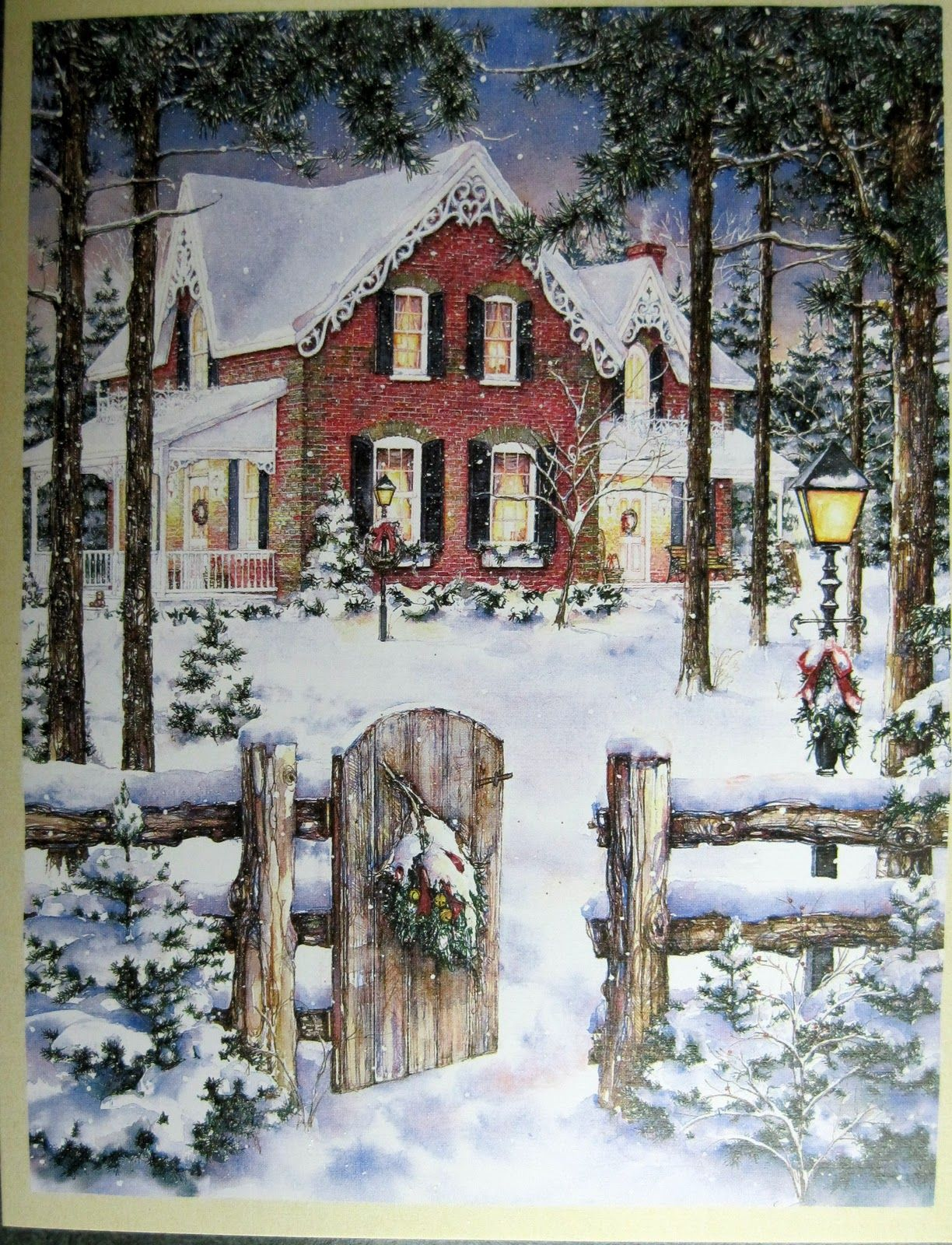Lang Christmas Card. Perfect winter home setting. | The Most ...