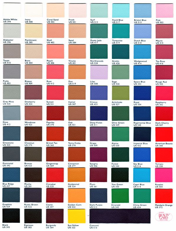 Jewel Tone Color Chart